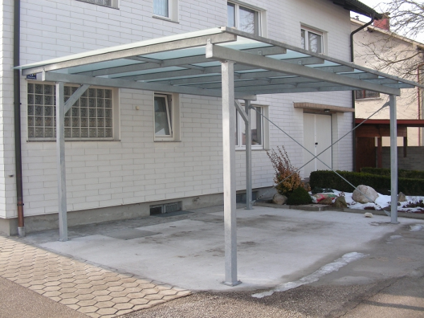 Carports metallbau wittberger for Stahlbau carport