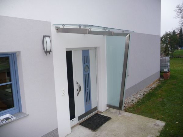 Eingangsuberdachungen Metallbau Wittberger